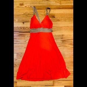 Criss cross tie back sundress party dress